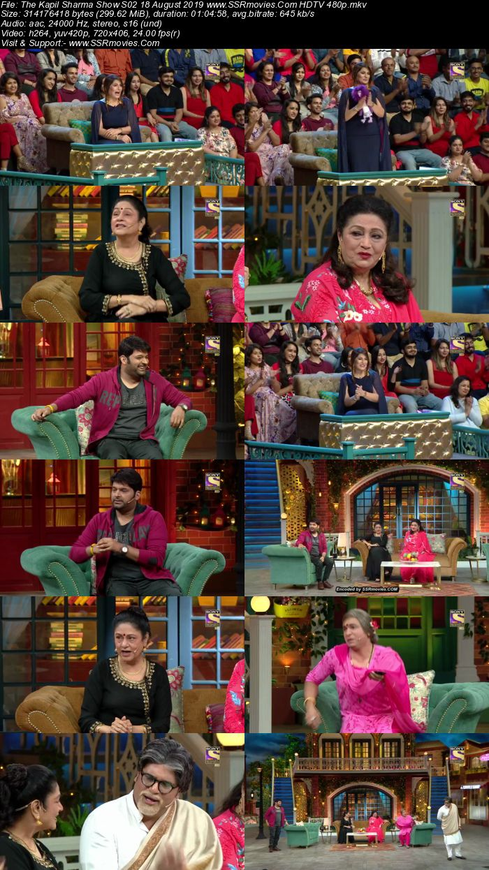 The Kapil Sharma Show S02 18 August 2019 Full Show Download HDTV HDRip 480p