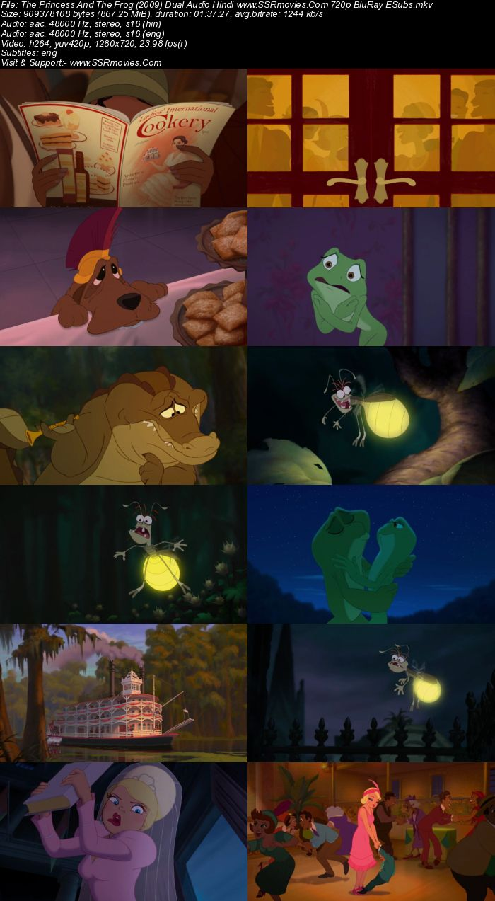 The Princess And The Frog (2009) Dual Audio Hindi 720p BluRay ESubs Movie Download