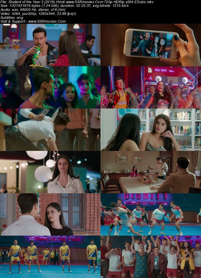 Student of the Year 2 (2019) Hindi 480p HDRip x264 450MB ESubs Movie Download