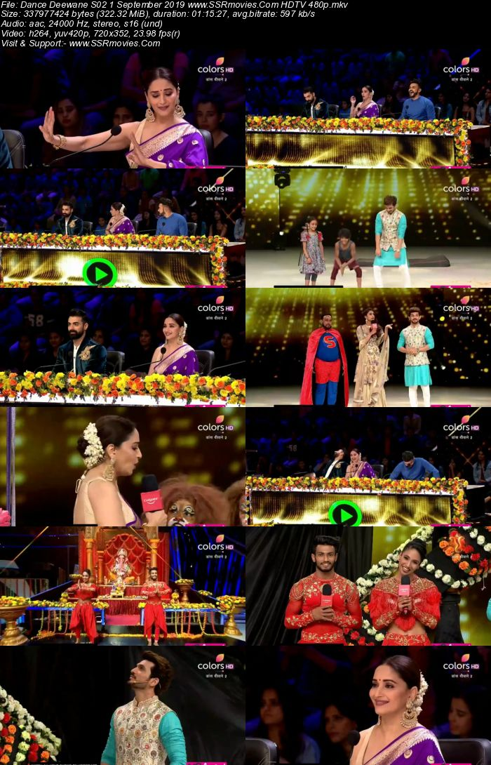 Dance Deewane S02 1 September 2019 HDTV 480p x264 300MB Download