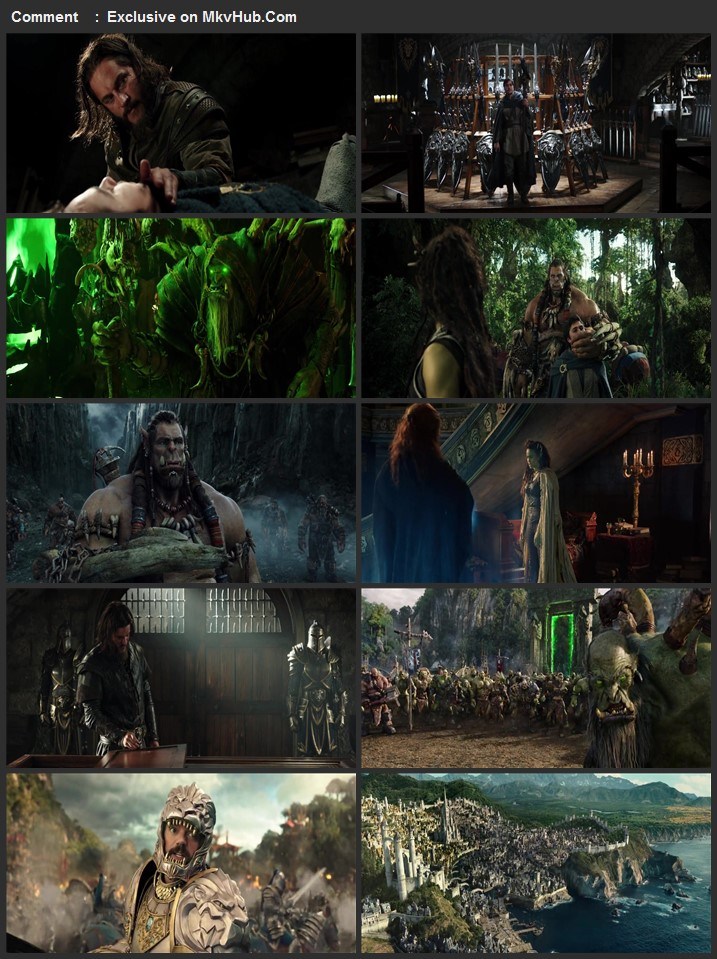 Warcraft The Beginning 2016 720p BluRay ORG Dual Audio In Hindi English