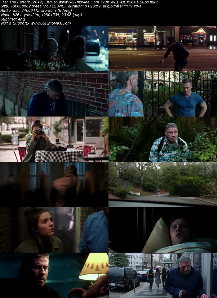 The Fanatic (2019) English 480p WEB-DL x264 250MB ESubs Movie Download