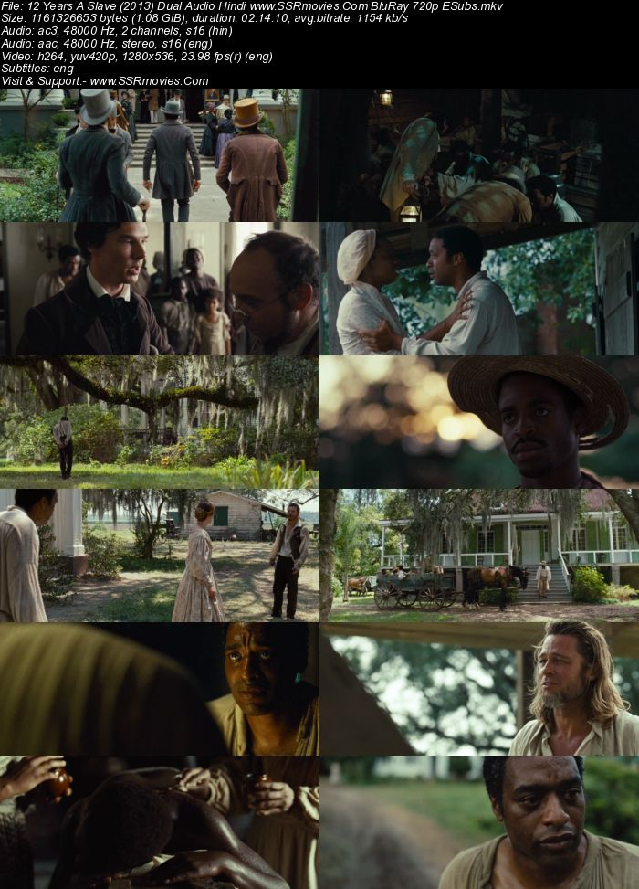 12 Years A Slave (2013) Dual Audio Hindi 720p BluRay 1.1GB ESubs Movie Download