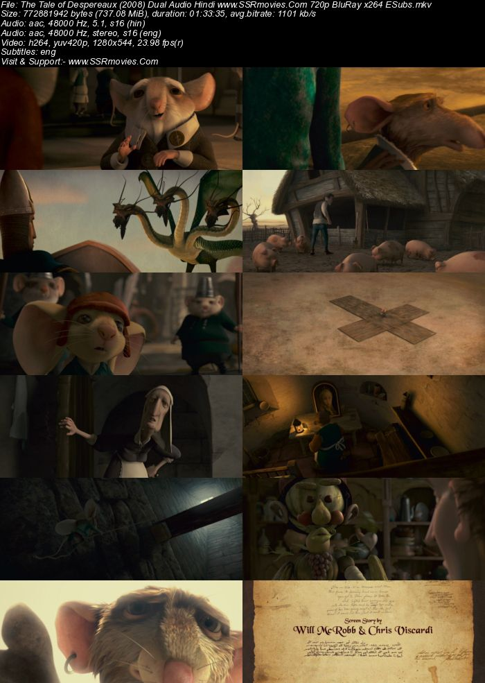 The Tale of Despereaux (2008) Dual Audio Hindi 720p BluRay ESubs Movie Download