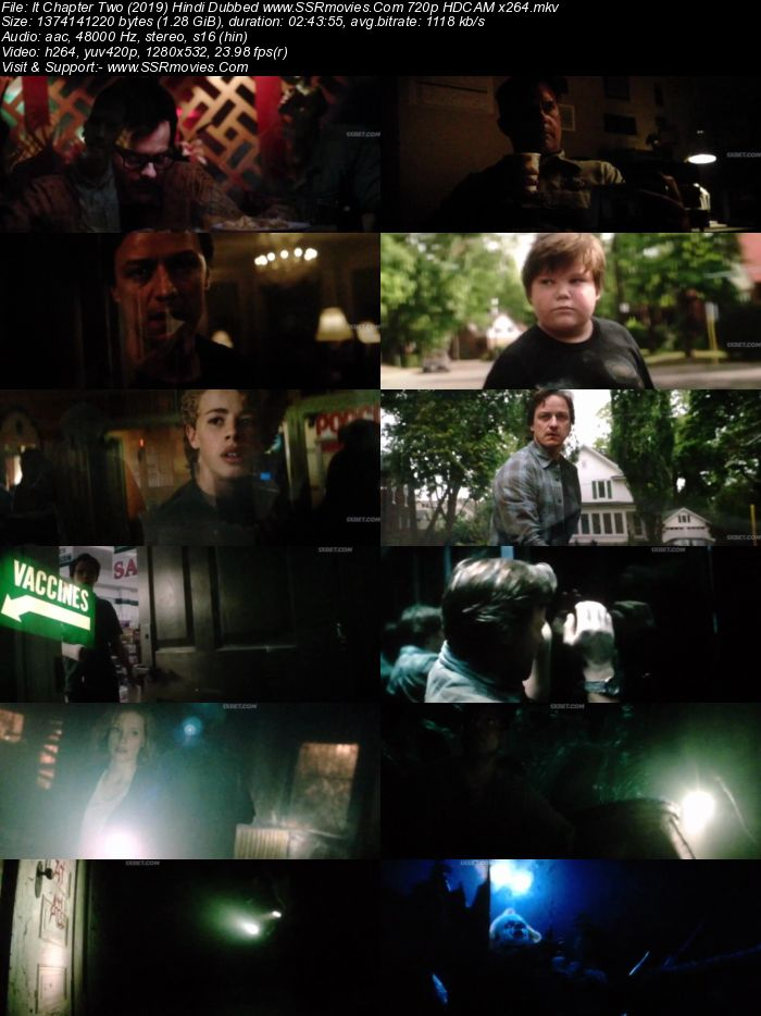 It Chapter Two (2019) Hindi Dubbed 720p HDCAM x264 1.3GB Movie Download