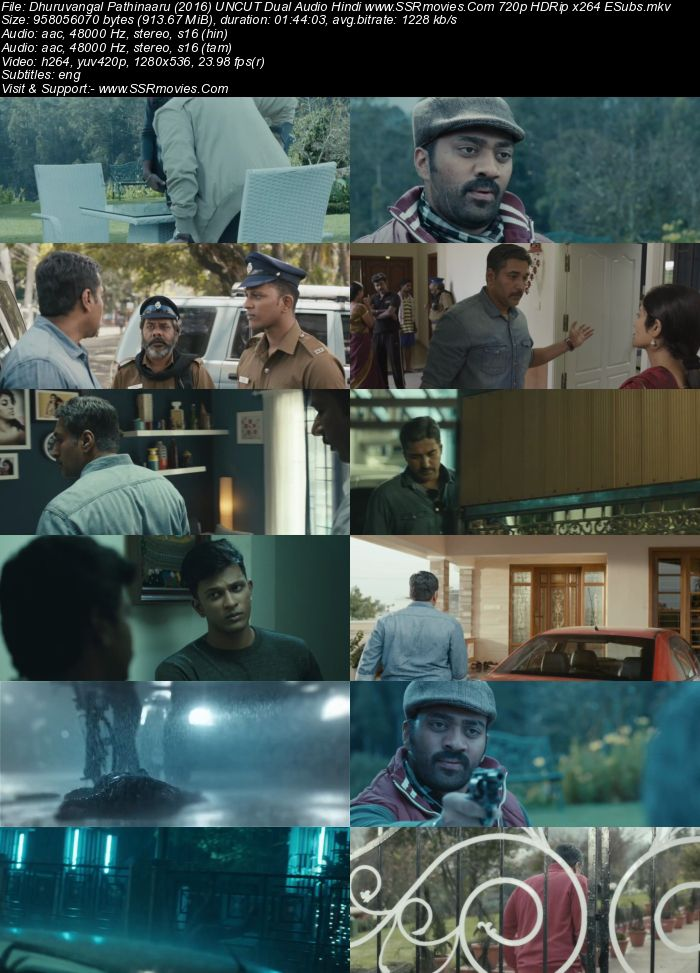 Dhuruvangal Pathinaaru (2016) Dual Audio Hindi 480p HDRip 300MB Movie Download