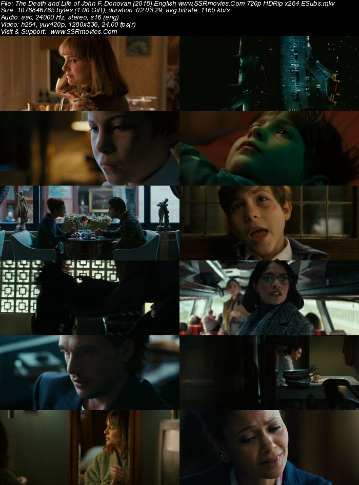 The Death and Life of John F. Donovan (2018) English 480p HDRip 350MB Movie Download