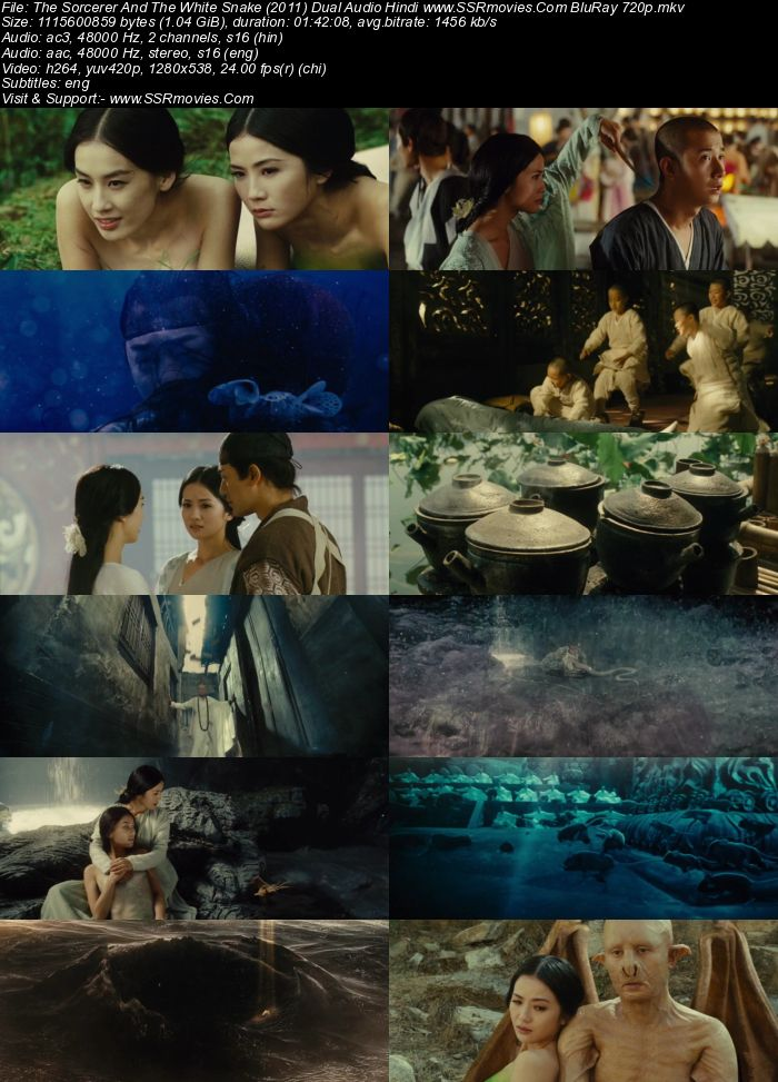Sorcerer And The White Snake (2011) Dual Audio Hindi 480p BluRay 300MB Movie Download
