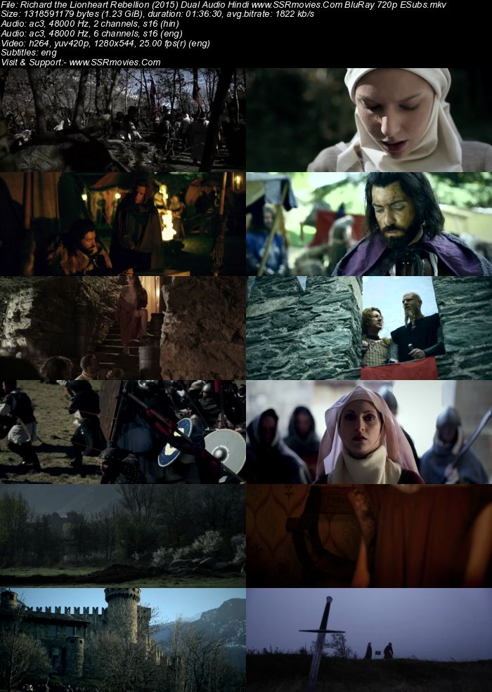 Richard the Lionheart Rebellion (2015) Dual Audio Hindi 720p BluRay Movie Download