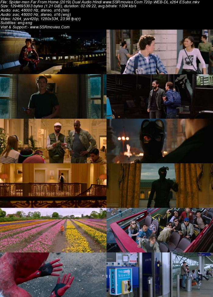 Spider-Man Far From Home (2019) Dual Audio Hindi 720p WEB-DL ESubs Movie Download