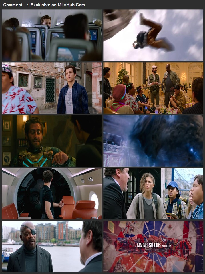 Spider-Man Far from Home 2019 720p WEB-DL Dual Audio in Hindi English