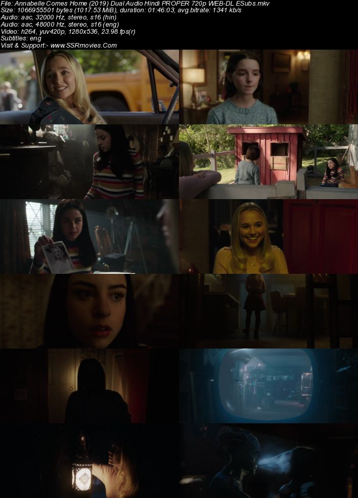 Annabelle Comes Home (2019) Dual Audio Hindi 720p WEB-DL ESubs Movie Download