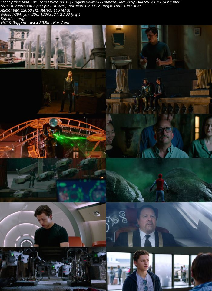 Spider-Man Far From Home (2019) English 720p BluRay 950MB ESubs Movie Download