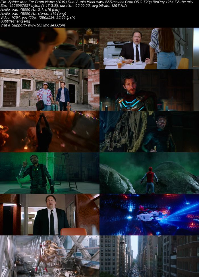 Spider-Man Far From Home (2019) Dual Audio Hindi ORG 480p BluRay 400MB Movie Download