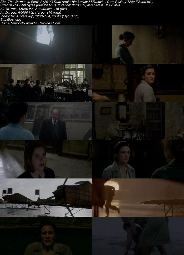 The Woman in Black 2 (2014) Dual Audio Hindi 720p BluRay x264 800MB Movie Download