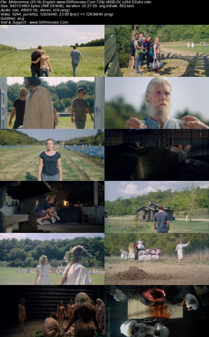 Midsommar (2019) English 480p WEB-DL x264 450MB ESubs Movie Download