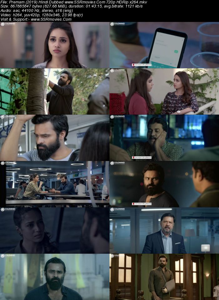 Premam (2019) Hindi Dubbed 720p HDRip x264 800MB Movie Download