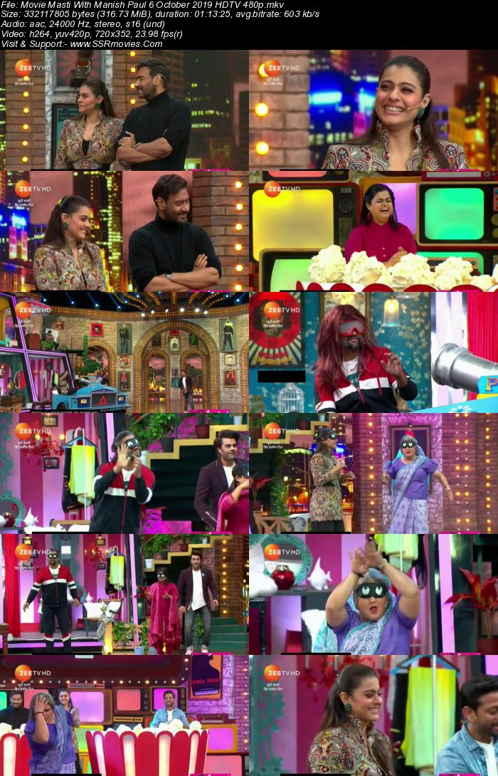 Movie Masti With Manish Paul 6 October 2019 HDTV 480p 300MB Download