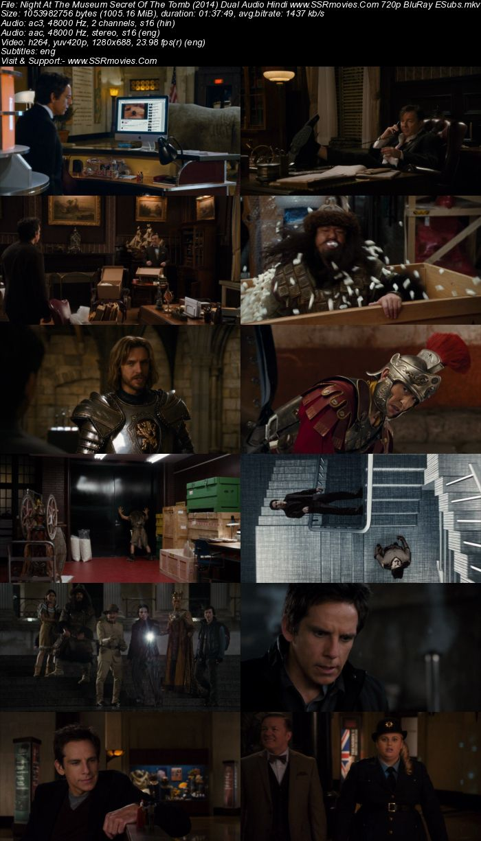 Night at the Museum Secret of the Tomb (2014) Dual Audio 720p BluRay Movie Download