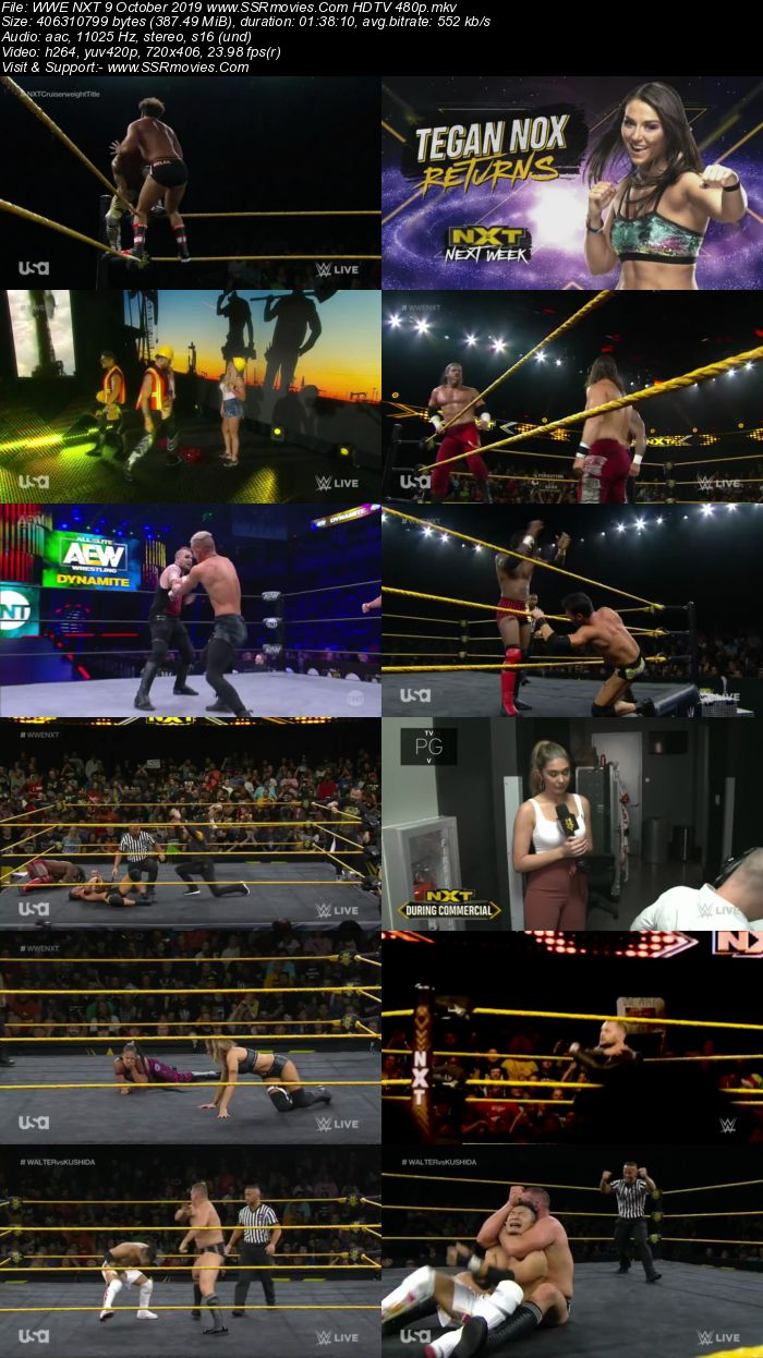 WWE NXT 9 October 2019 HDTV 480p Full Show Download