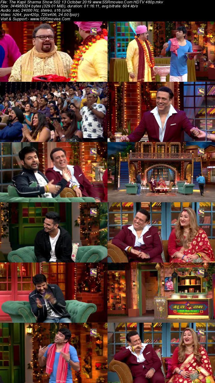 The Kapil Sharma Show S02 13 October 2019 Full Show Download HDTV HDRip 480p