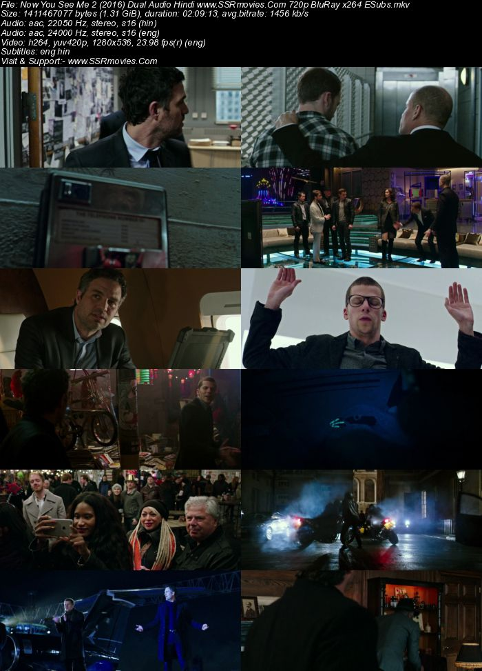Now You See Me 2 (2016) Dual Audio Hindi 480p BluRay 450MB ESubs Movie Download