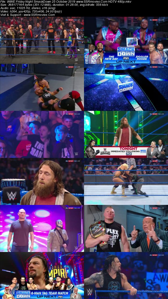 WWE Smackdown Live 25 October 2019 Full Show Download 480p 720p HDTV WEBRip