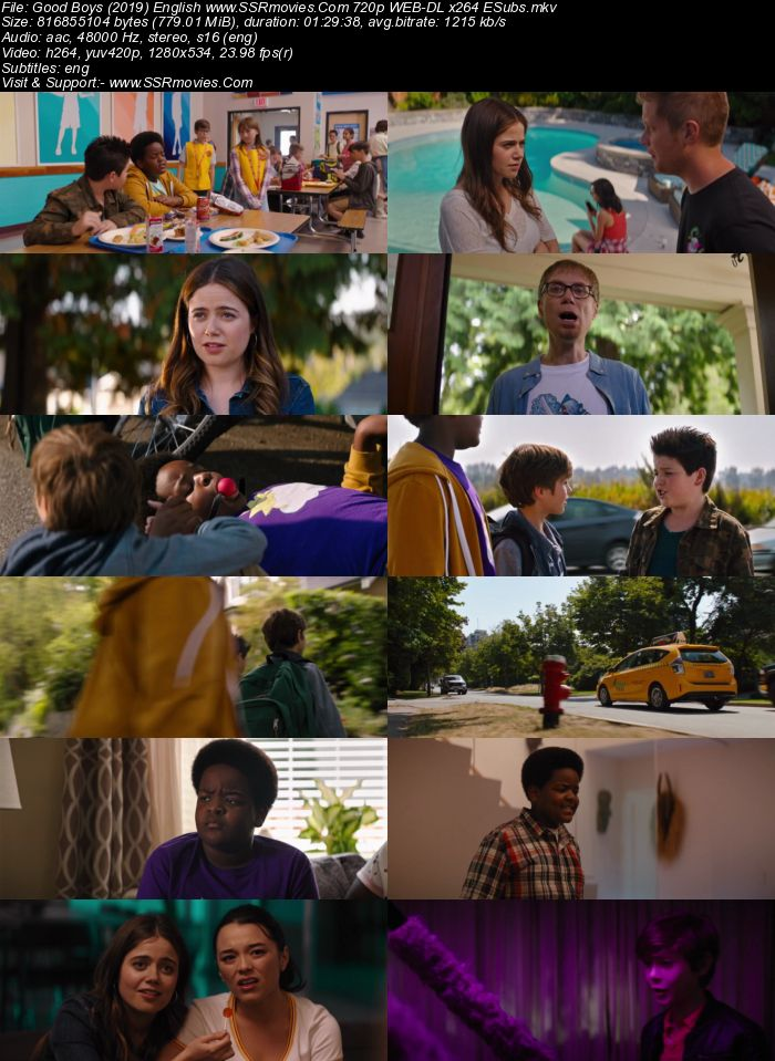 Good Boys (2019) English 720p WEB-DL x264 750MB ESubs Movie Download