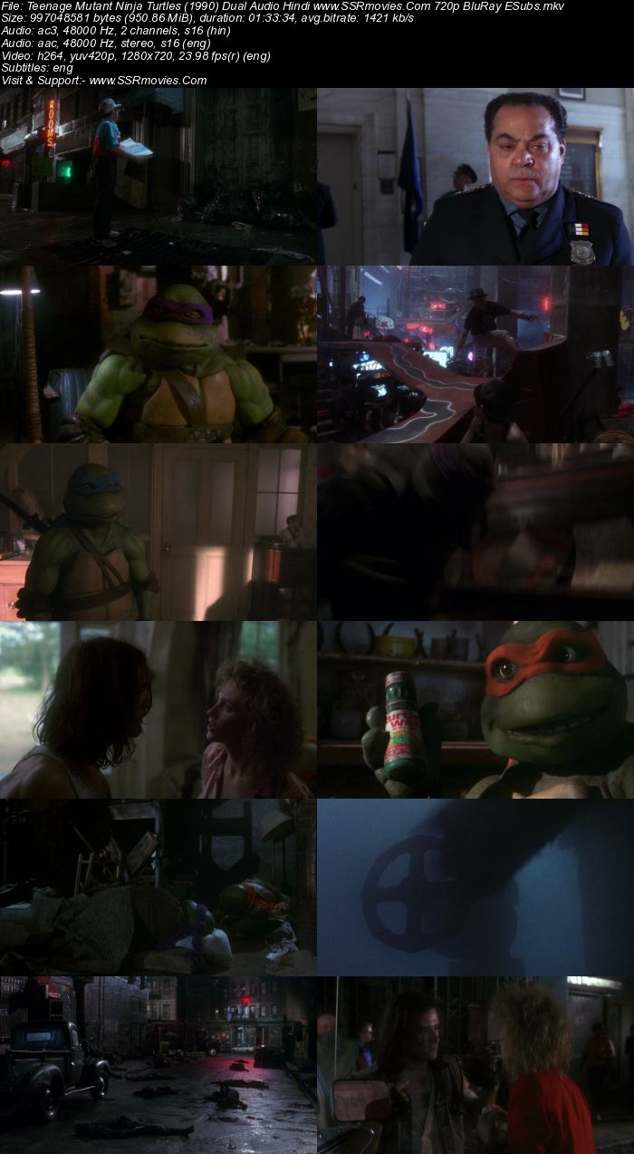Teenage Mutant Ninja Turtles (1990) Dual Audio Hindi 480p BluRay 300MB Movie Download