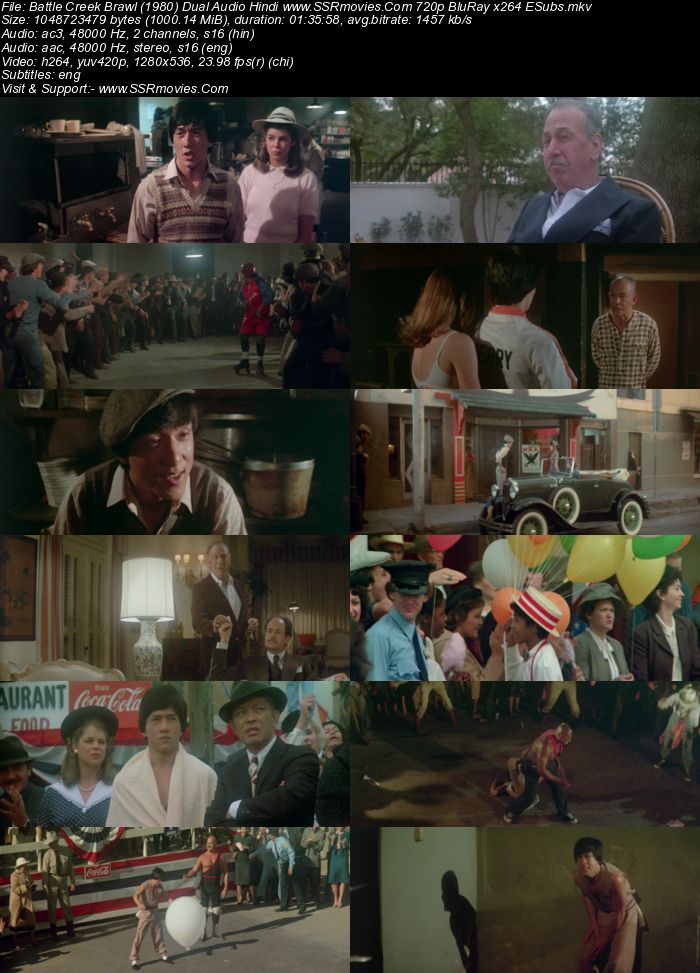 Battle Creek Brawl (1980) Dual Audio Hindi 720p BluRay 1GB ESubs Movie Download
