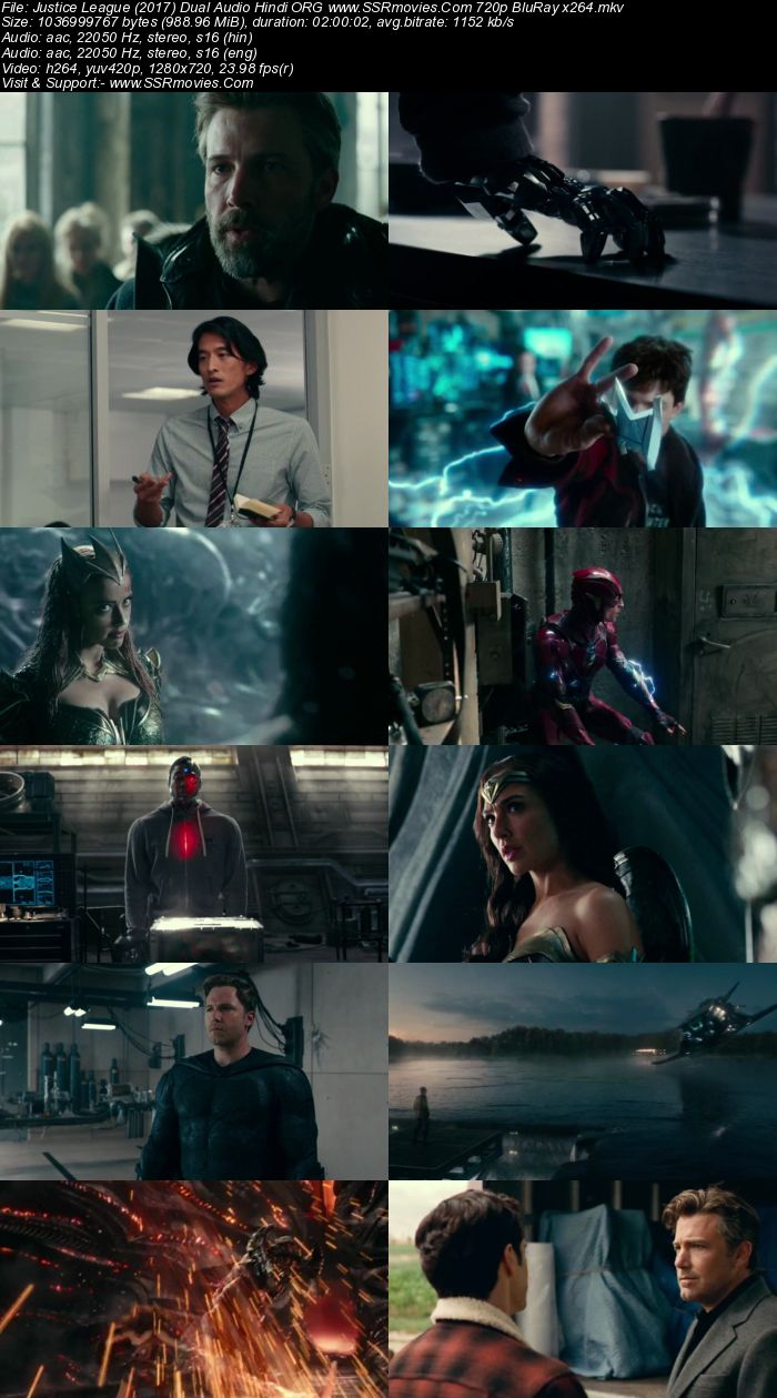 Justice League (2017) Dual Audio Hindi ORG 720p BluRay 950MB ESubs Movie Download