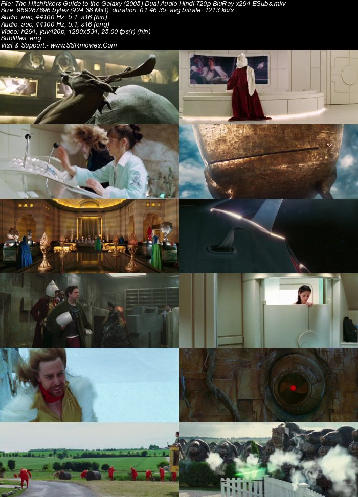 The Hitchhikers Guide to the Galaxy (2005) Dual Audio Hindi 720p BluRay ESubs Movie Download