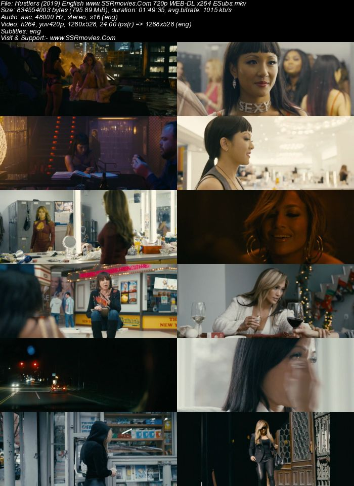 Hustlers (2019) English 720p WEB-DL x264 800MB ESubs Movie Download