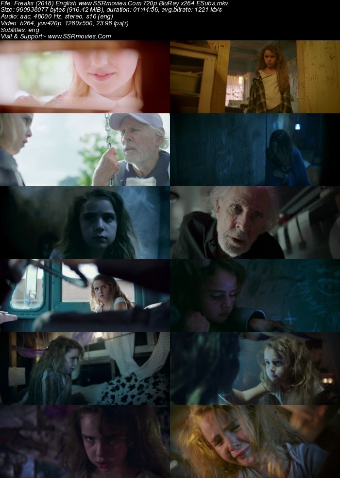 Freaks (2018) English 480p BluRay x264 300MB ESubs Movie Download