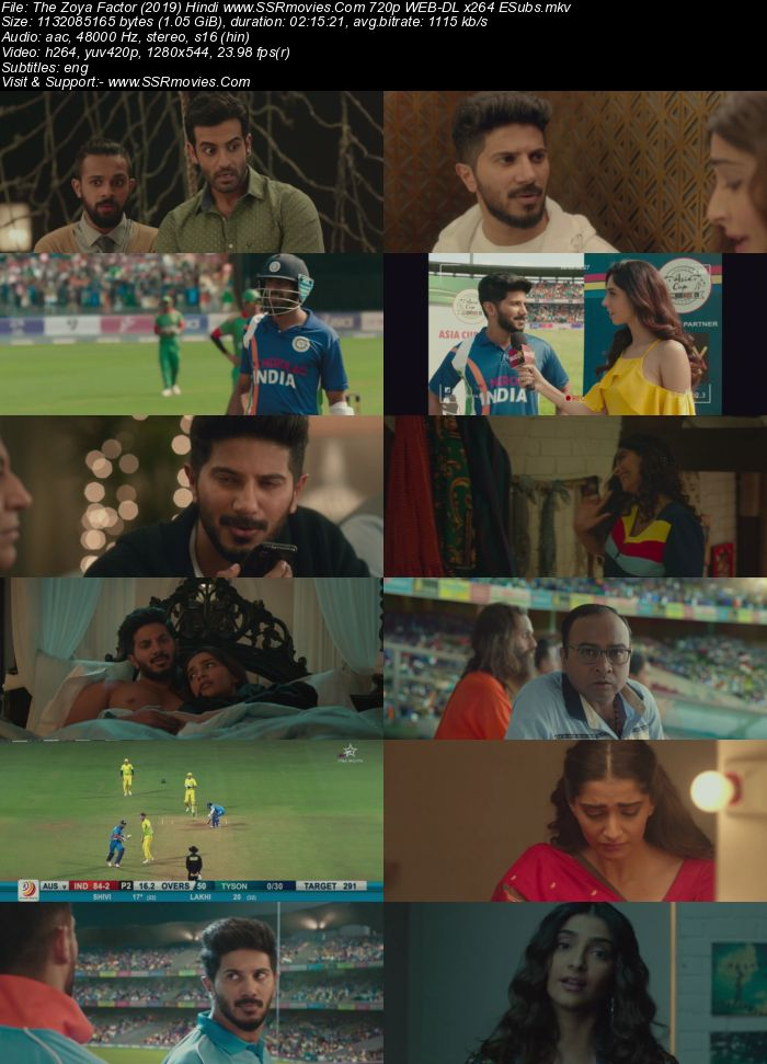 The Zoya Factor (2019) Hindi 480p WEB-DL x264 400MB ESubs Movie Download