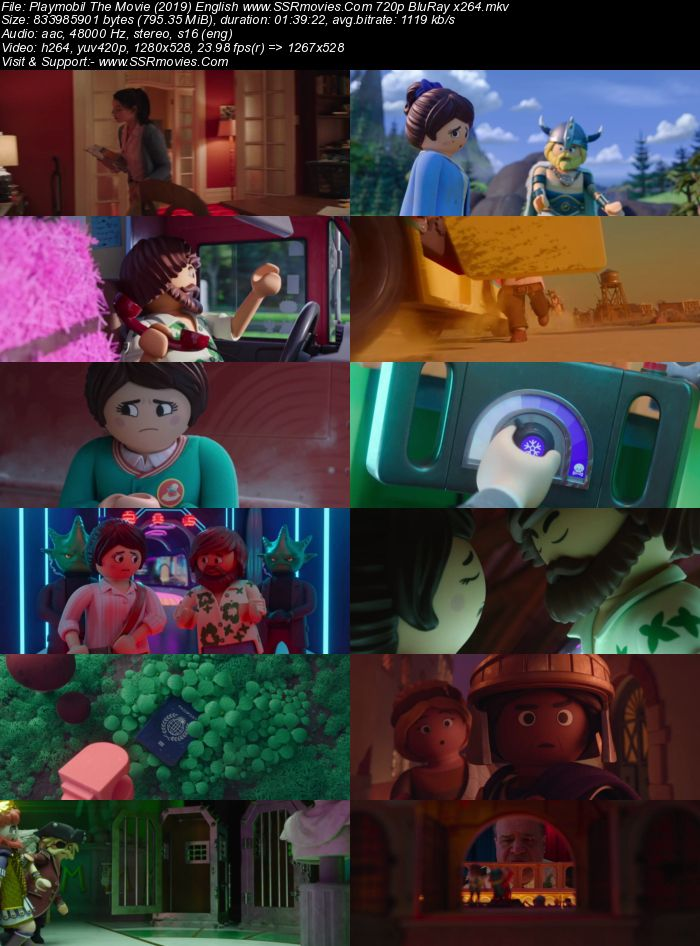 Playmobil The Movie (2019) English 720p BluRay x264 800MB Movie Download