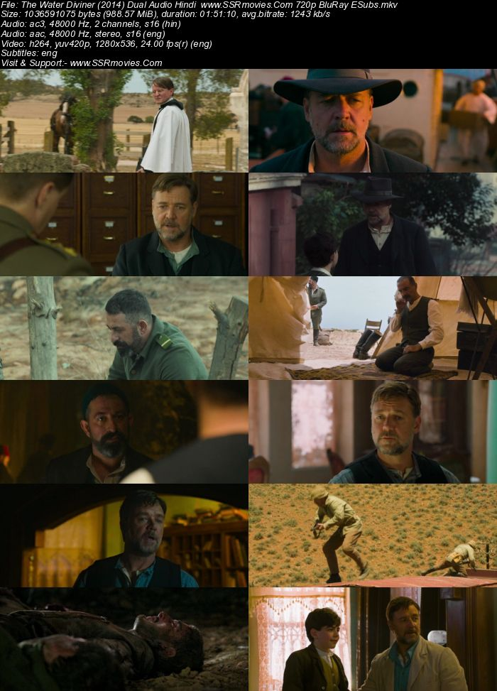 The Water Diviner (2014) Dual Audio Hindi 480p BluRay 350MB ESubs Movie Download