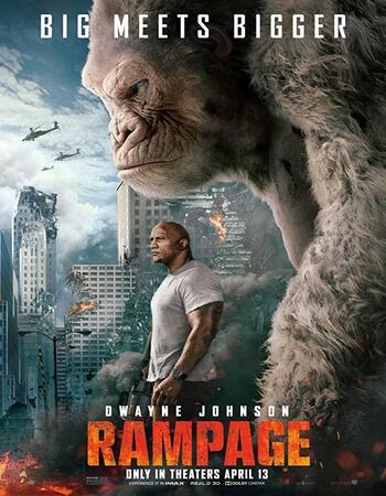Rampage 2018 Dual Audio Hindi ORG 720p BluRay x264 950MB ESubs