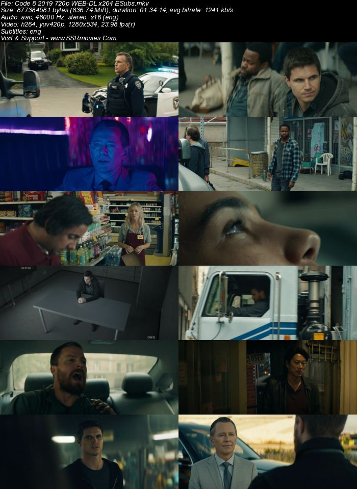 Code 8 (2019) English 480p WEB-DL x264 300MB ESubs Full Movie Download