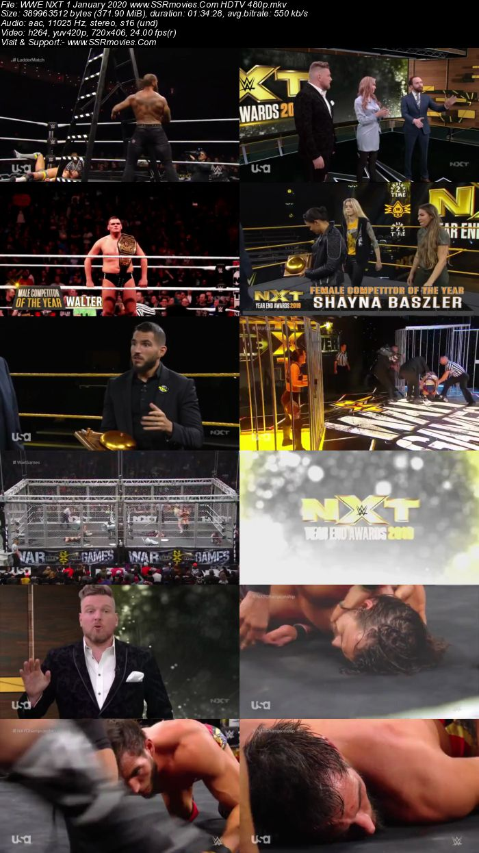 WWE NXT 1 January 2020 HDTV 480p Full Show Download