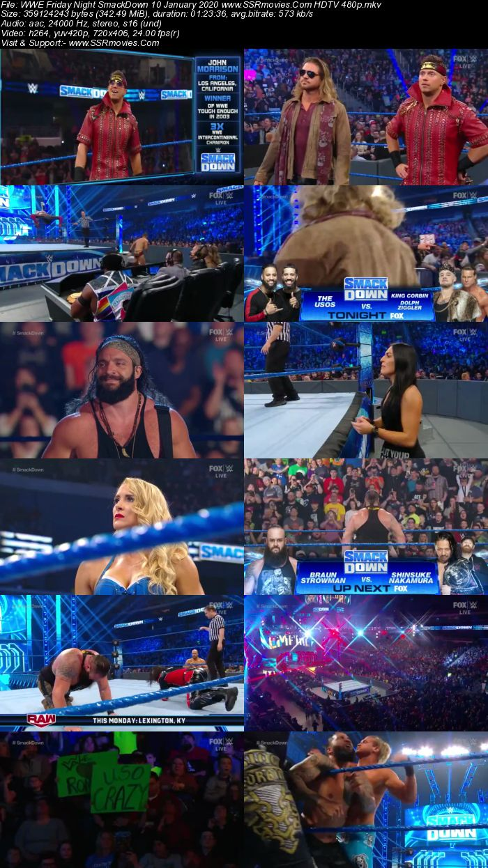 WWE Friday Night SmackDown 10 January 2020 Full Show Download 480p 720p HDTV WEBRip