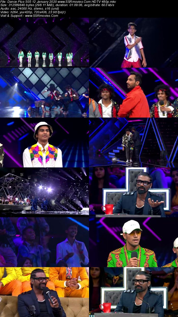 Dance Plus S05 12 January 2020 HDTV 480p 720p Download