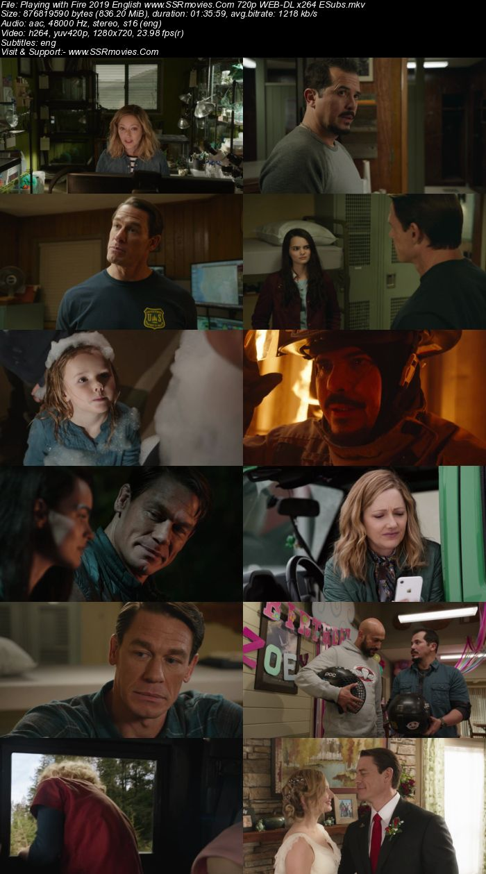 Playing with Fire (2019) English 720p WEB-DL x264 800MB Full Movie Download