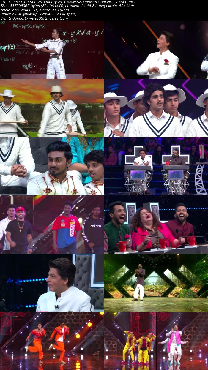Dance Plus S05 26 January 2020 HDTV 480p 720p Download