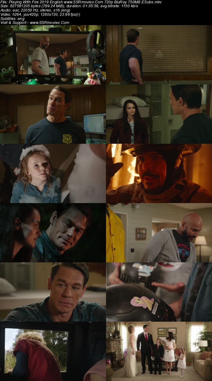 Playing with Fire (2019) English 720p BluRay x264 800MB ESubs Movie Download