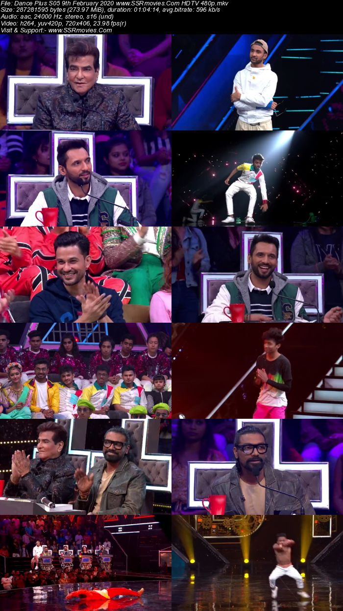 Dance Plus S05 9th February 2020 HDTV 480p 720p Download