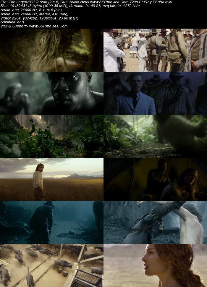 The Legend Of Tarzan (2016) Hindi 480p 400mb Bluray Dual Audio