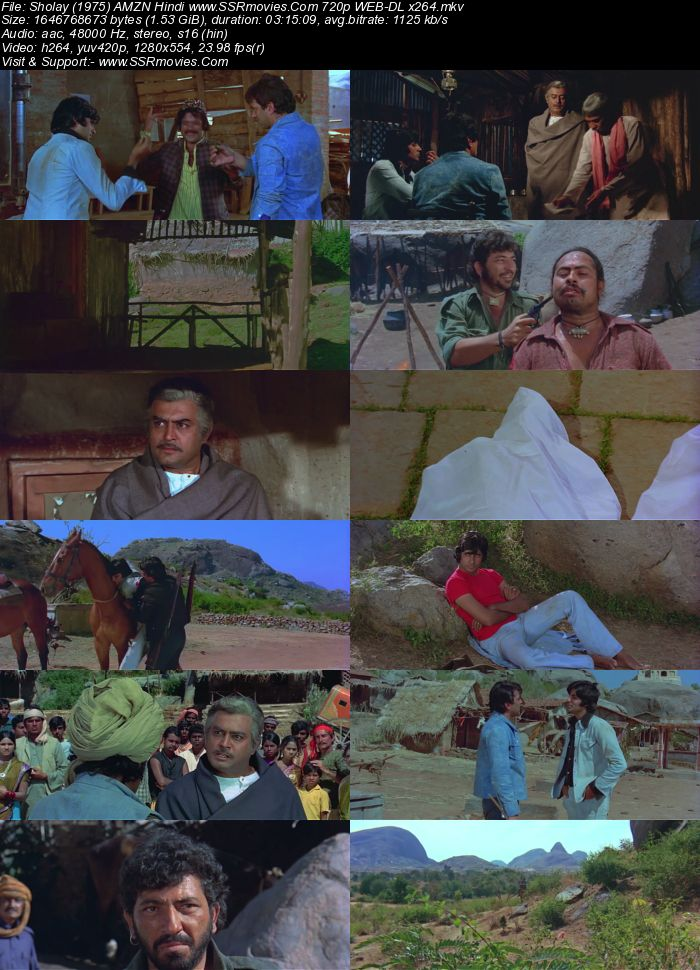 Sholay (1975) Hindi AMZN 480p WEB-DL x264 600MB Full Movie Download