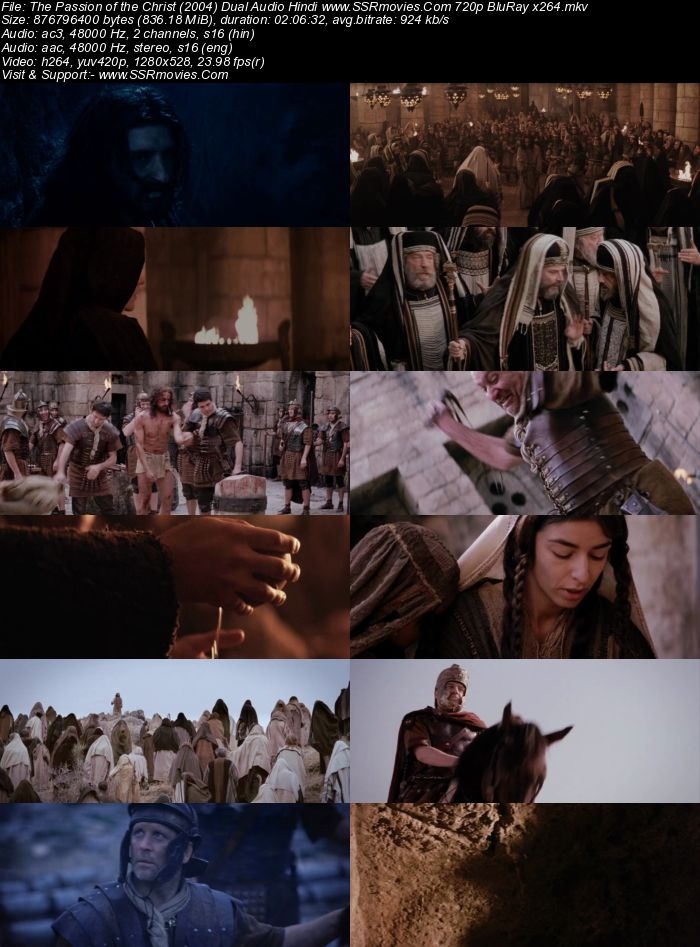 The Passion of the Christ (2004) Dual Audio Hindi 720p BluRay x264 800MB Full Movie Download