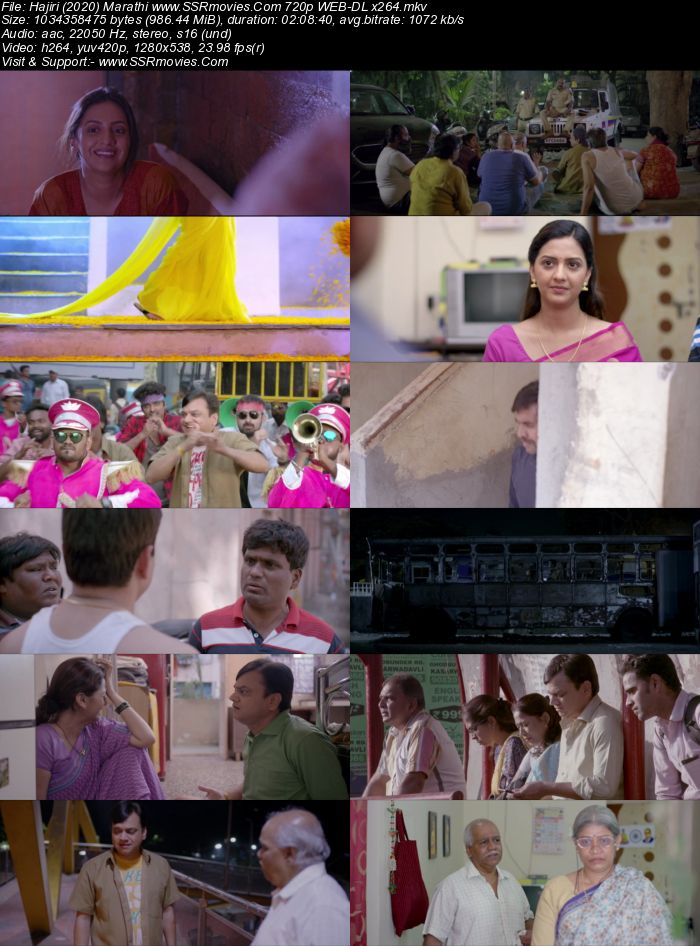 Hajiri (2020) Marathi 480p WEB-DL x264 400MB Movie Download